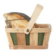 Корзина для хлеба с ручкой 18*14*15см дер.