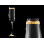 Бокал для шампанского Эсприт, Звезды на золотой полосе (набор 6 шт.)