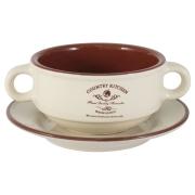 Суповая чашка на блюдце «Кухня в стиле Кантри»