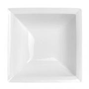 Салатник квадратный «Аура»; фарфор; L=24,B=24см; белый