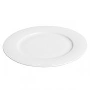 Тарелка десертная «Амбра» [3шт], фарфор, D=21см, белый