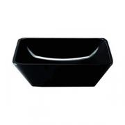 Салатник квадр. «Белиз», пластик, 213мл, D=25.4см, черный