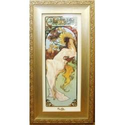 Картина «Лето 1897 г « 46,5х24,5 см,фарфор, серия Mucha. Подарочная упаковка