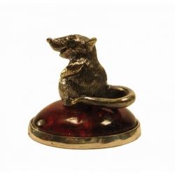 Сувенир «Мышка на кочке»