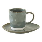 Чашка с блюдцем (серый) Interiors без индивидуальной упаковки