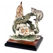 Скульптура «Котята в корзинке» 19см