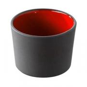 Форма для запекан.; фарфор; 150мл; D=75,H=50мм; черный,красный
