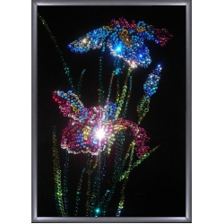 Ирисы,20х30 см,1044 кристалла