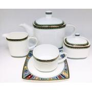 Сервиз чайный «Авангард» 17 предметов на 6 персон
