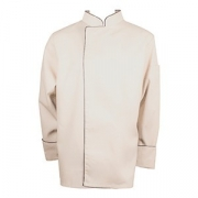 Куртка поварская с окант. 48-50разм., твил, бежев.,черный
