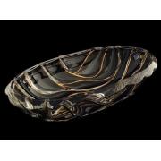 Салатник овальный 38 см BAMBOO золотой