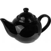 Чайник с крыш. «Кунстверк», фарфор, 760мл, H=14,L=21,B=12см, черный