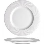 Тарелка мелкая «Уиллоу» D=25.5см; белый