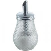 Сахарница-дозатор, стекло, 250мл, H=128,B=77мм, прозр.