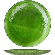 Блюдо круглое D=27, H=3см; зелен.
