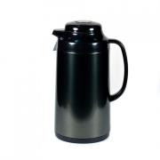Термос метал. 1,0 л. со стеклянной колбой «Черный», Tiger