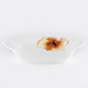 Салатник овальный 25,4см «Бежевая лилия»