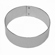 Кольцо кондитерское, сталь нерж., D=220,H=35,B=224мм, металлич.