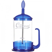 Кофейник с прессом стекло, полипроп. ; 900мл; прозр. , синий