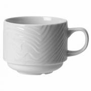Чашка чайная «Оптик», фарфор, 212мл, белый