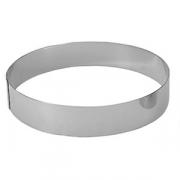 Кольцо кондитерское; сталь нерж.; D=140,H=45мм; металлич.