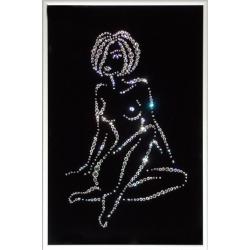 Женский силуэт(Каприз), 20х30 см, 432 кристаллов