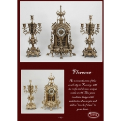 Часы «Флоренция» каштан 57х35 см.