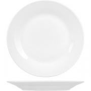 Тарелка мелкая «Коллаж» D=18.7, H=2см; белый