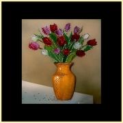 Букет тюльпанов, 40х40 см, 1168 кристаллов