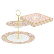 Ваза двухъярусная (розовая) Majestic в подарочной упаковке