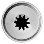 Насадка кондит. «10-конечная звезда», сталь нерж., D=22,H=30мм, металлич.