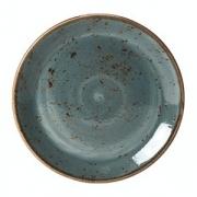 Тарелка мелкая «Крафт», фарфор, D=250,H=17мм, синий