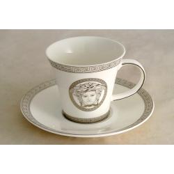 Чашка с блюдцем 0,2 л «Versace - platinum»