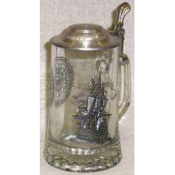Пивная кружка стеклянная «Фрегат», 0.5 л
