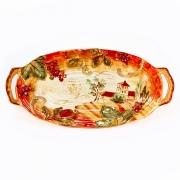 Блюдо для рыбы с ручками 47х24 см. «Сиена»