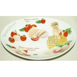 Блюдо овальное (глубокое) «Помидоры и моцарелла» 26х17 см