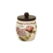 Банка для сыпучих продуктов с деревянной крышкой(кофе) Сады Флоренции