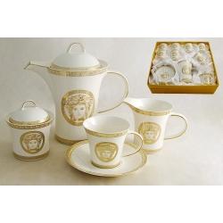 Чайный сервиз «Versace - gold» на 6 персон 15 предметов