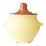 Горшок для запекания «Грибок», керамика, 500мл, D=10.5,H=10см, желт.,коричнев.
