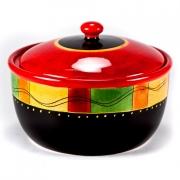 Салатник 2,2л с крышкой «Красный перец»