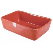 Форма для запекания 22x15x6,5 см прямоугольная красная