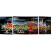Москва (триптих)35*50/50*70/35*50 см,5572 кристаллов