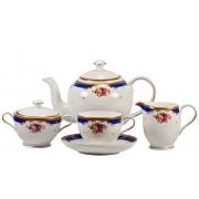 Сервиз чайный 17 пр. «Музетте» (6 чайн. пар, чайник, сах-ца, сливочник)
