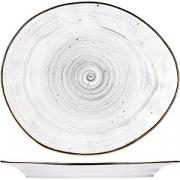 Тарелка мелкая «Пастораль» H=2.7, L=27см; серый