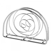 Салфетница «Спираль», сталь, H=90,L=130,B=55мм, металлич.