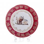 Набор тарелок «Охота красная» 24 см. 6 шт.