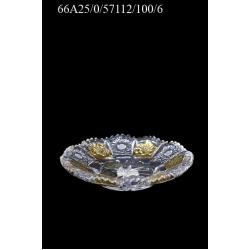 Набор тарелок (6 шт.) хрустальных с позолотой ,диаметр 10 см.