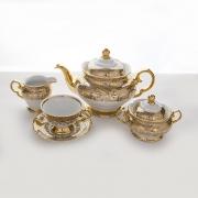 Сервиз чайный «Лист бежевый» на 6 перс. 15 пред.