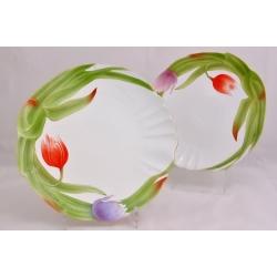 Набор из 2-х обеденных тарелок «Тюльпаны» 25 см