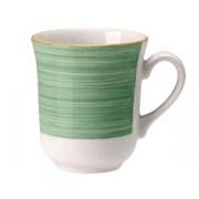 Кружка «Рио Грин», фарфор, 285мл, белый,зелен.